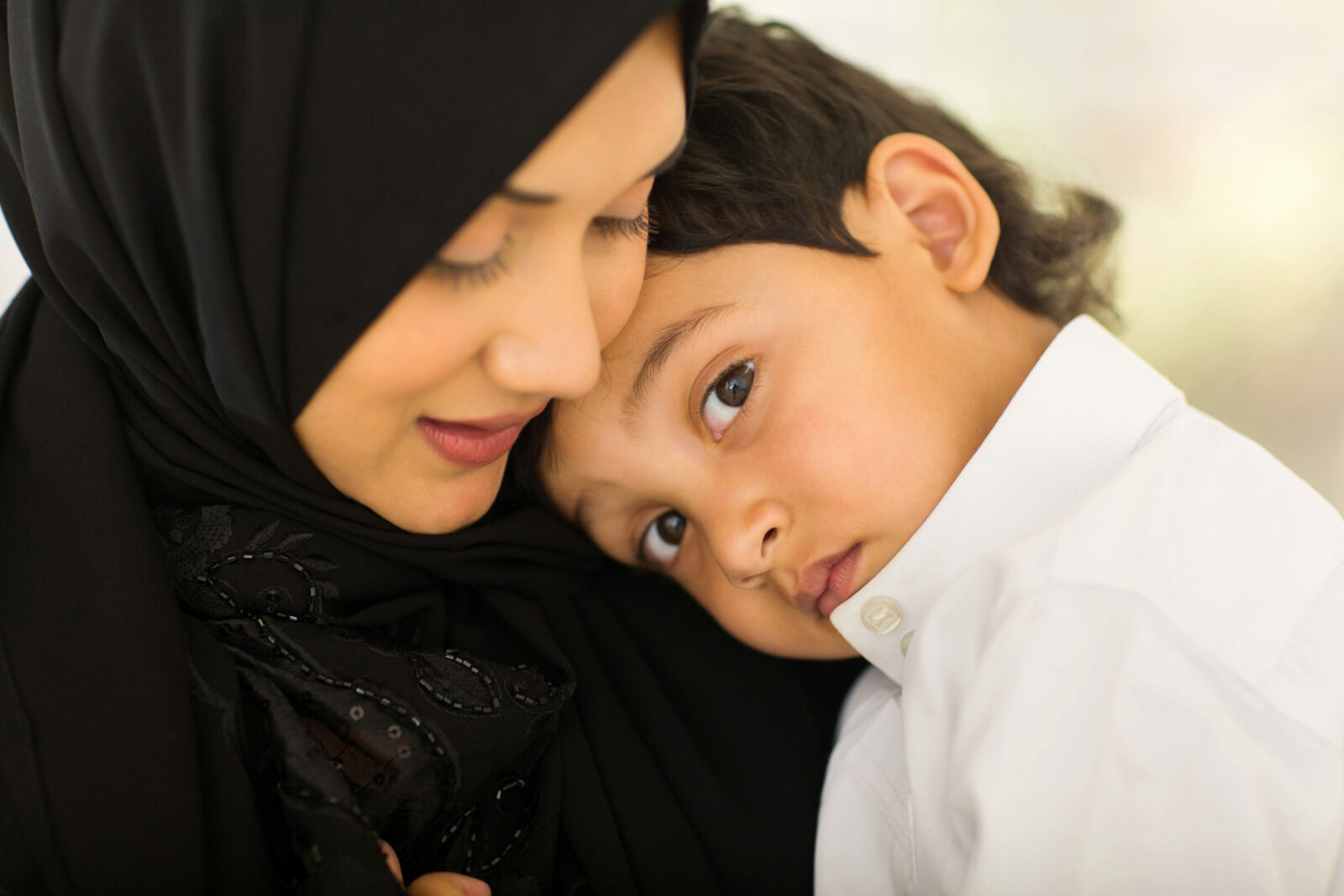 Arabic mother and little boy