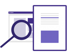 Illustration of files and web pages