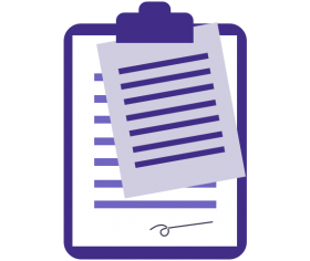 Illustration of a clipboard