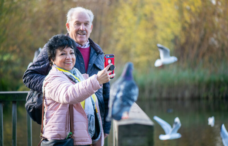 Older adults using technology