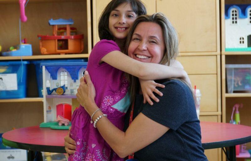 Diana Tustin and paediatric patient.