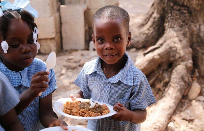 Pinson School Haiti Rayjon meal