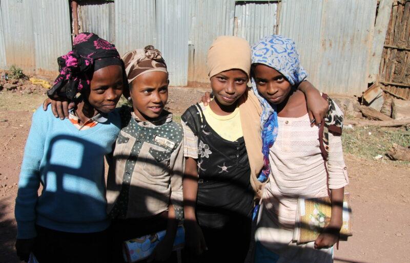 school girls in Fitche, Ethiopia