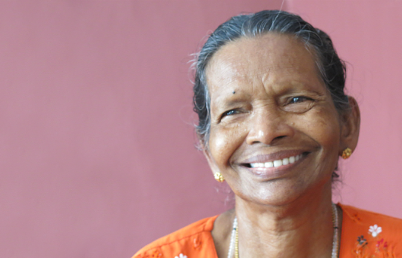Smiling woman in our Sponsor A Grandparent program