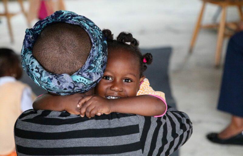 nutrition program parent and child Haiti Rayjon