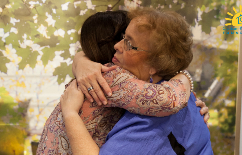 emotional care for resident and family, hug