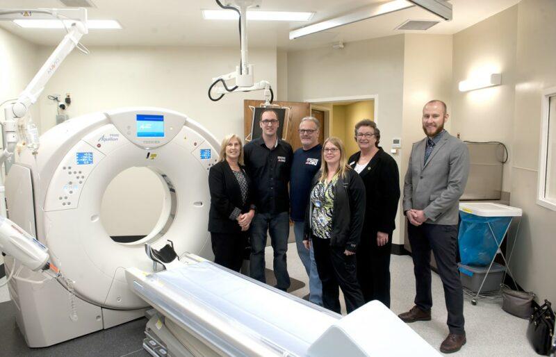 The new CT Scanner in the Lloydminster Hospital.