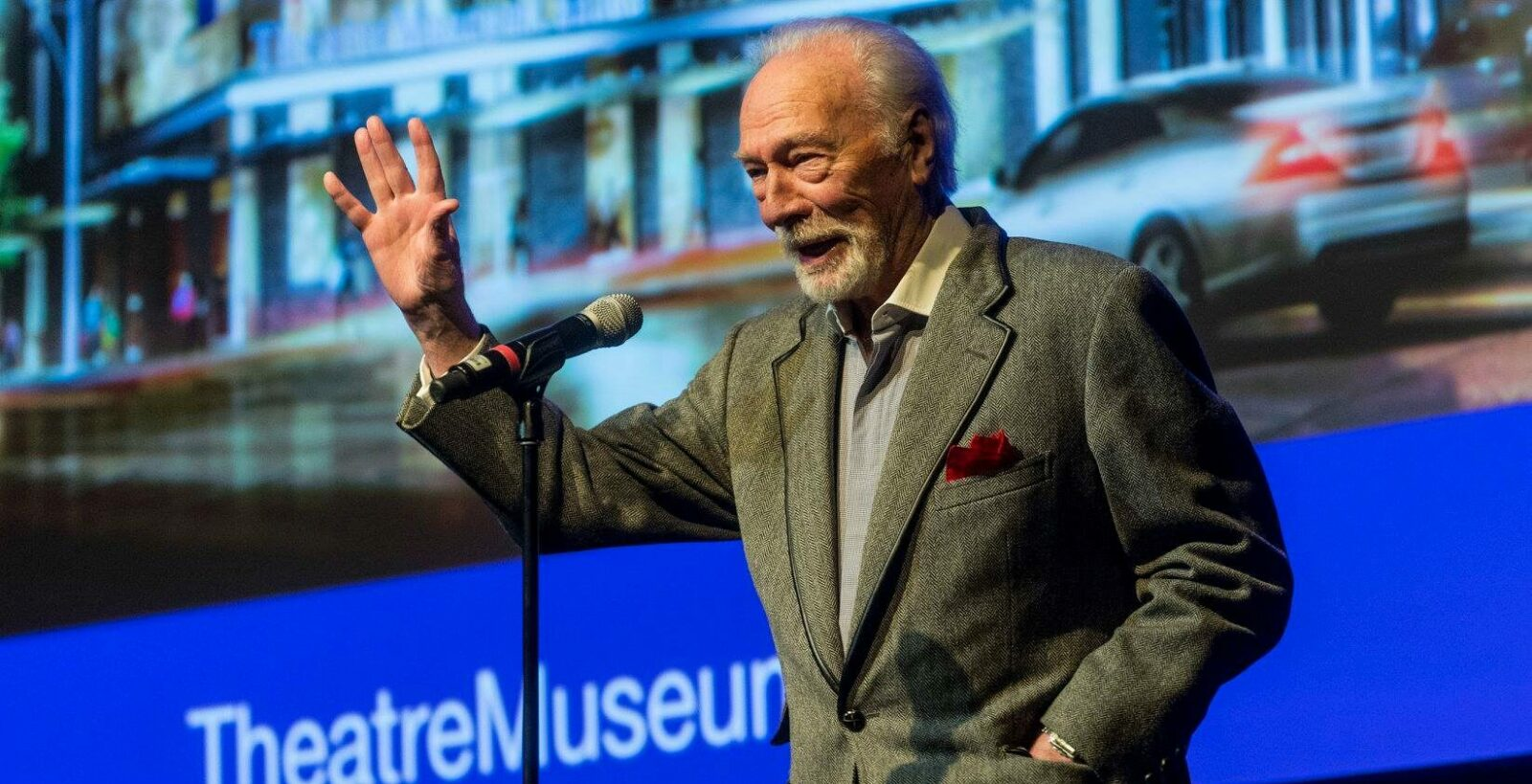 Christopher Plummer at Theatre Museum event