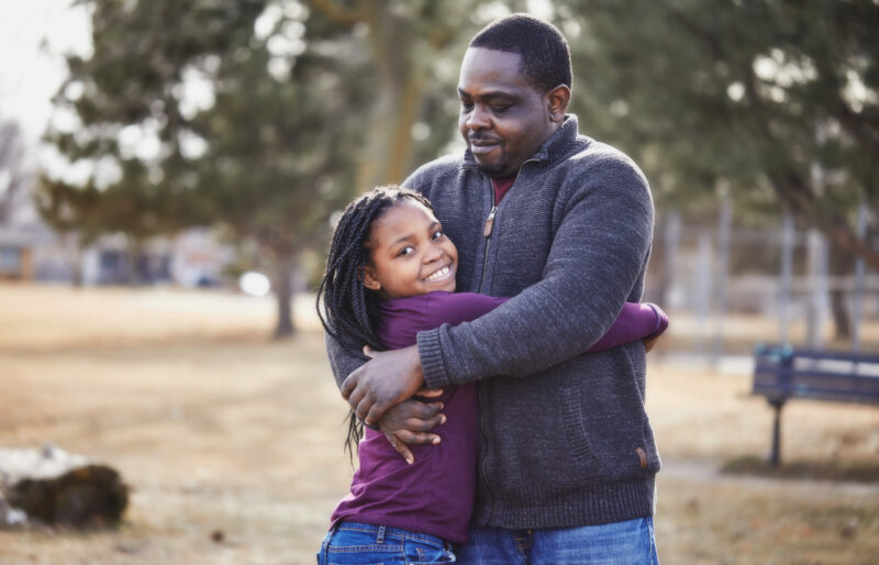A man and his daughter who both have type 1 diabetes