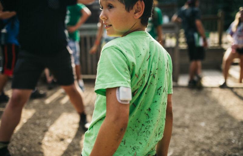 A child at Diabetes Canada's Camp Huronda