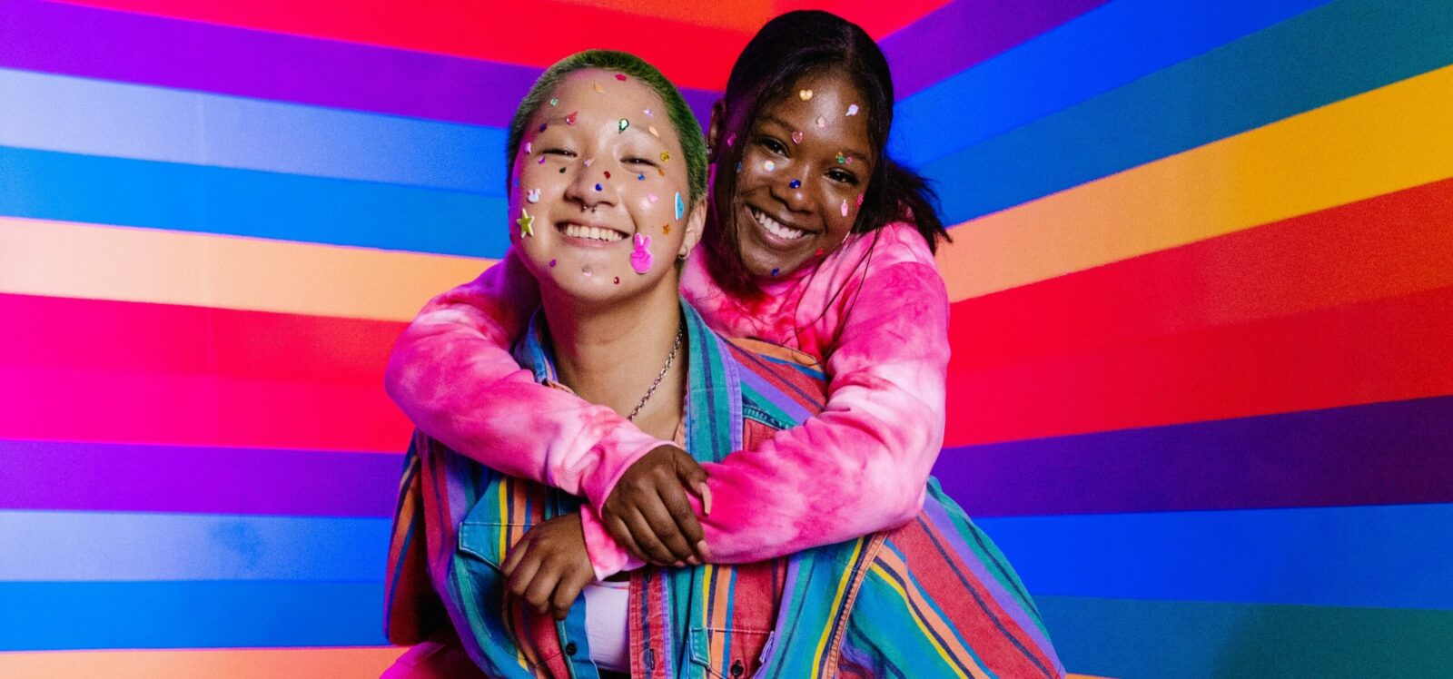 This image reflects the joy and connectedness of LGBTQI2S Youth.