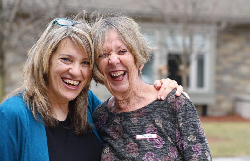 Barb Nolan and Myrna Harley